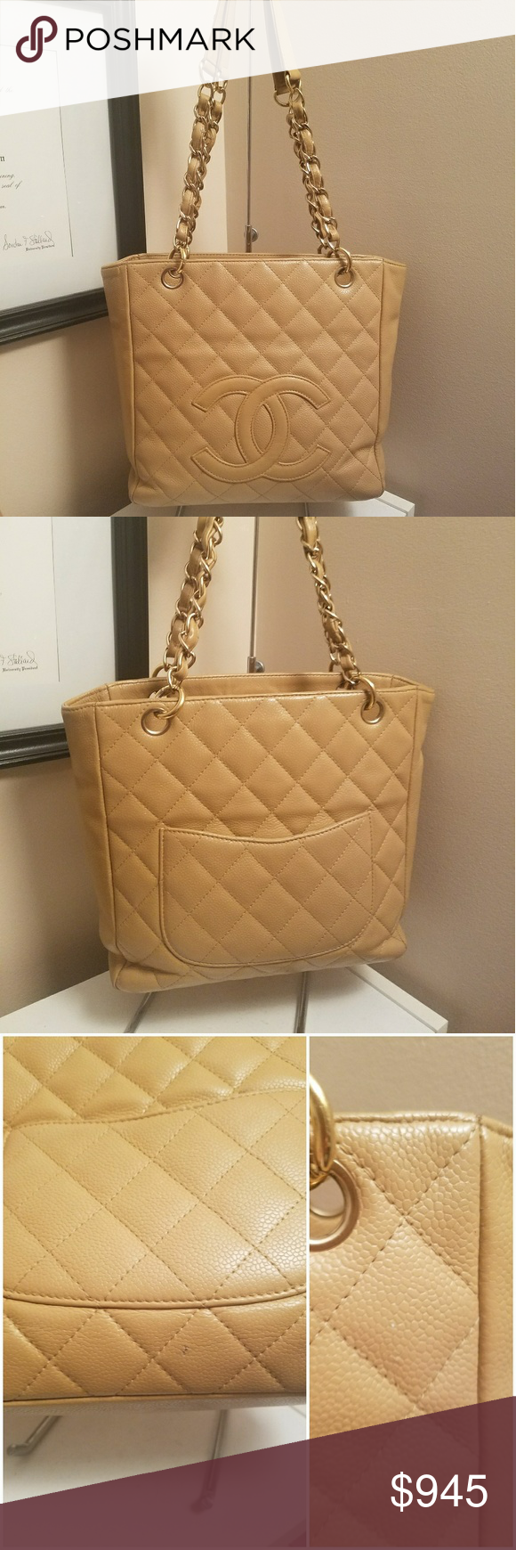 d17b98d87035 Auth Chanel PST Handbag Tote Auth Chanel PST Handbag Tote. Pre loved used  condition.