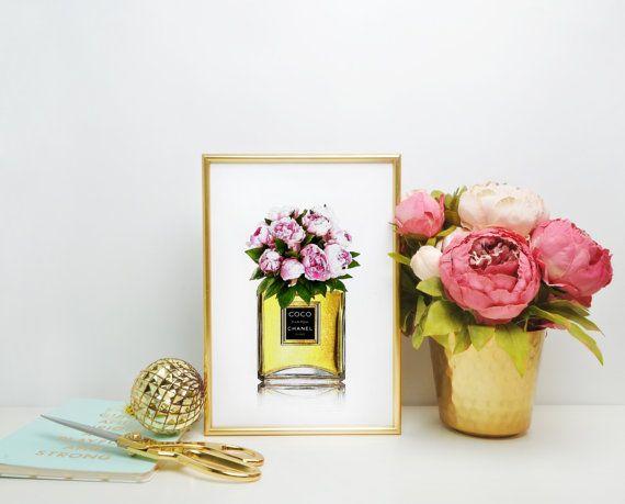 CHANEL PRINT Coco Chanel Perfume Print Coco by BlueWavesPrints