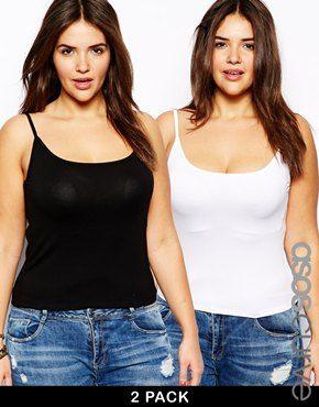 Aumentar Pack de 2 camisolas de punto suave y elástico en exclusiva de ASOS CURVE
