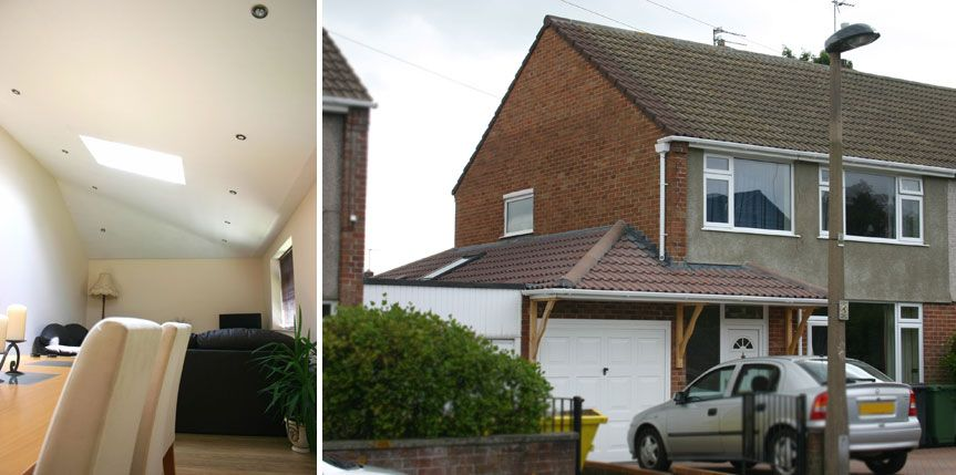 The side extension remained as a garage with the roof for Garage extension cost estimate