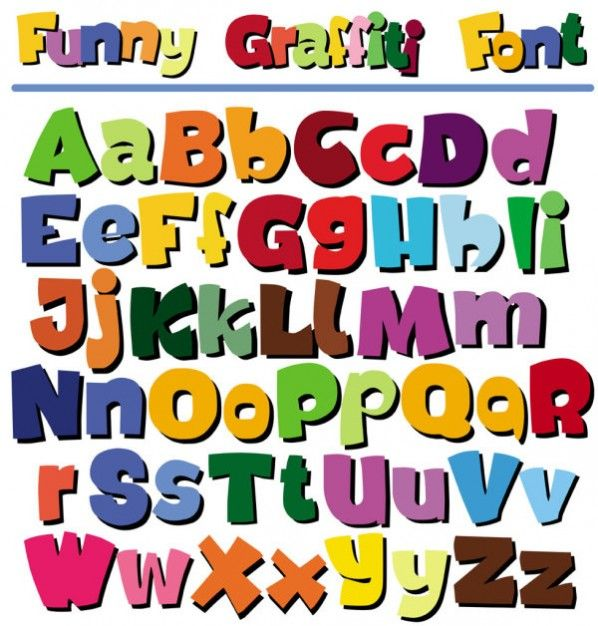 Cartoon Pop Letters Of The Alphabet Vector Lettering