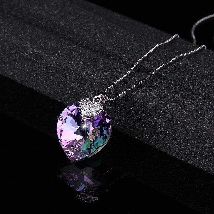 1.5cms Lilac Heart Crystal Embellishments x 20