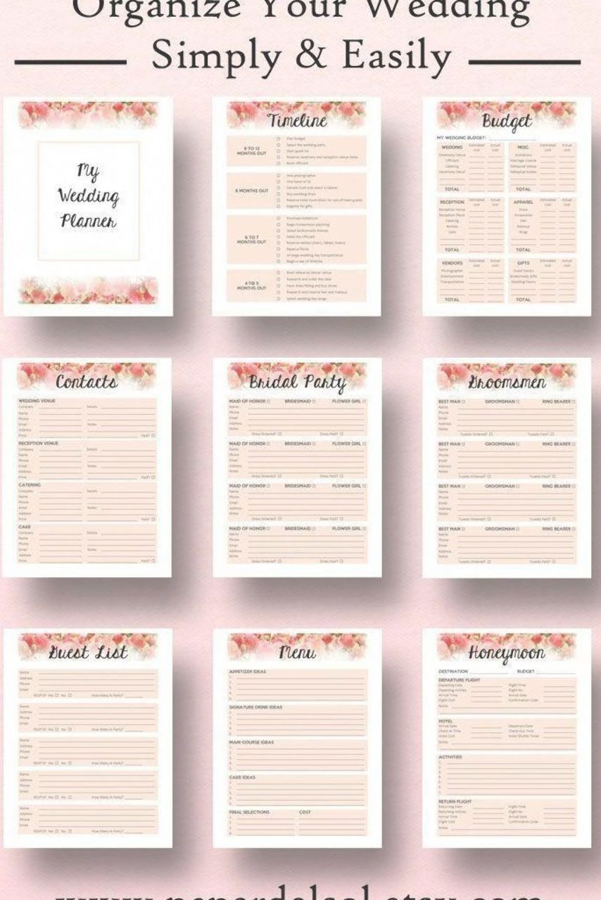 Wedding Planner Book Wedding Planner Printable Use These Printable Wedding Plan Wedding Planning Book Wedding Planner Book Free Wedding Planner Printables