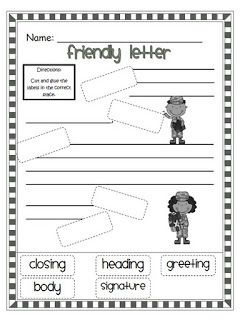 Parts Of A Friendly Letter Teaching Students What Parts To Include