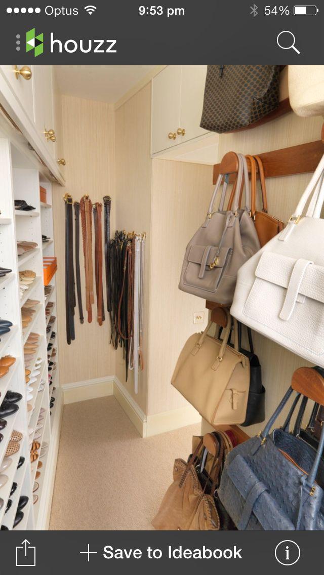 Walk In Robe Closet Storage Design Purse Storage Closet Designs
