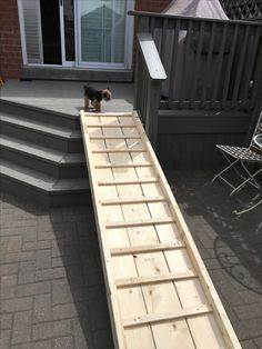 Free Plans For Dog Ramp From Deck Dog Stairs Dog Ramp