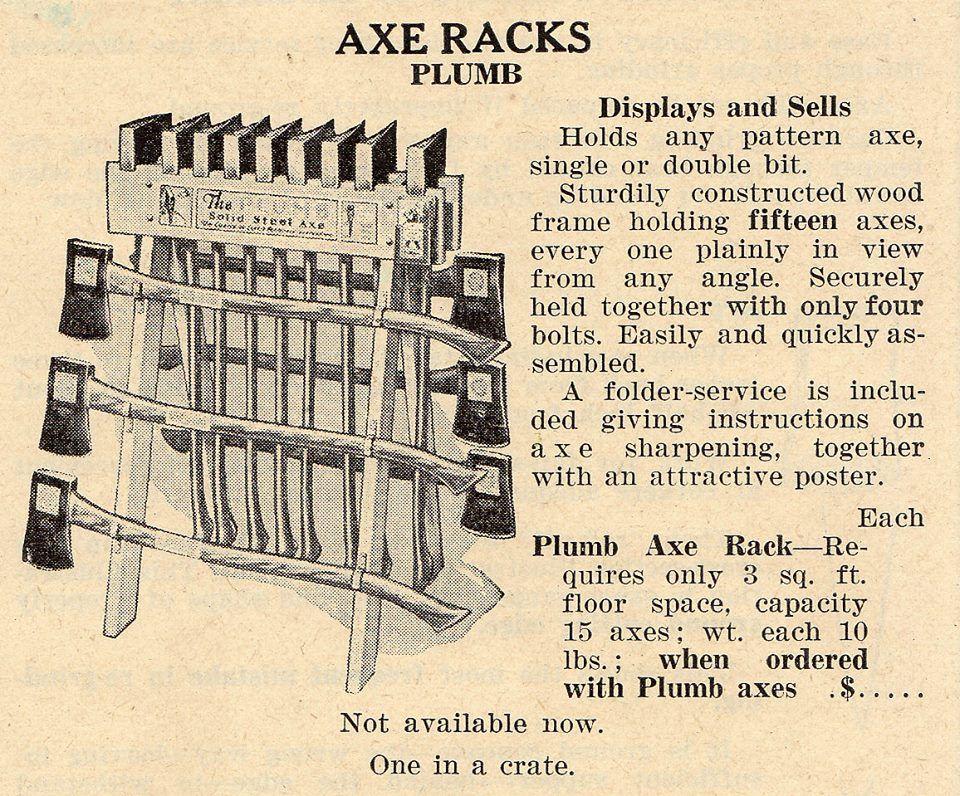 Axe Rack Stand Display Plumb Axe Woodworking Pinterest Axe