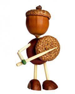 fr chte des herbstes basteln mit kastanien craft acorn crafts and clever. Black Bedroom Furniture Sets. Home Design Ideas