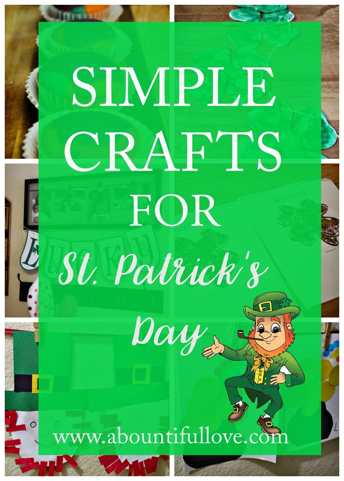 Who is St. Patrick? Crafts shouldn't be expensive! Here's easy and inexpensive St. Patrick's Day