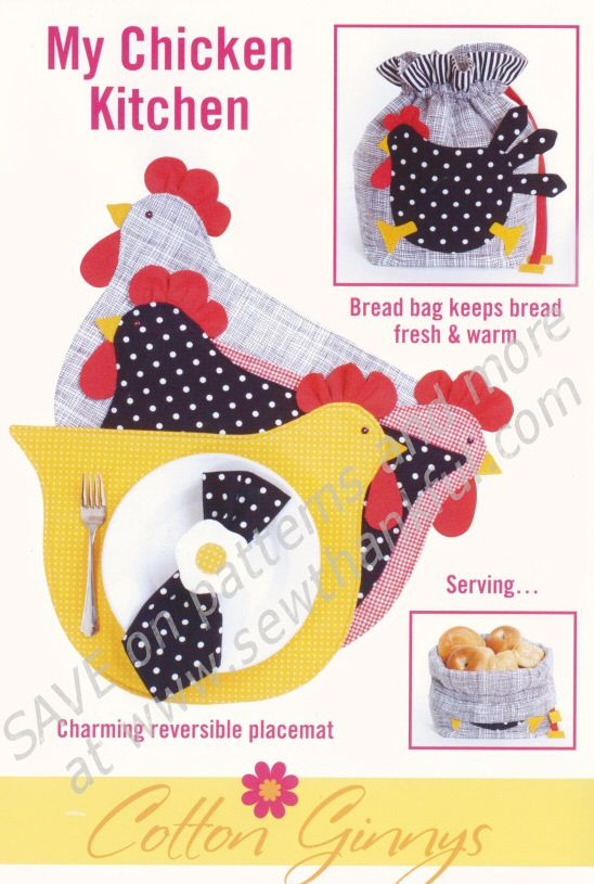 My Chicken Kitchen sewing pattern from Cotton Ginnys | Pinterest ...