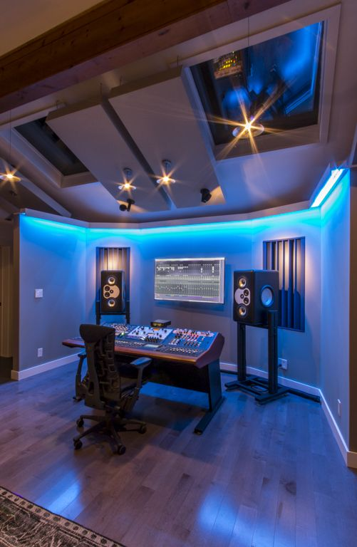 Fm Design Private Recording Studio Portfolio Gear Setup Lighting Music