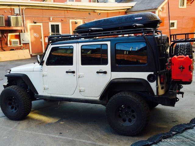 Captivating 2016 Jeep Wrangle JK 4 Door Cargo Box And Ski Rack Mounted To Gobi Rack