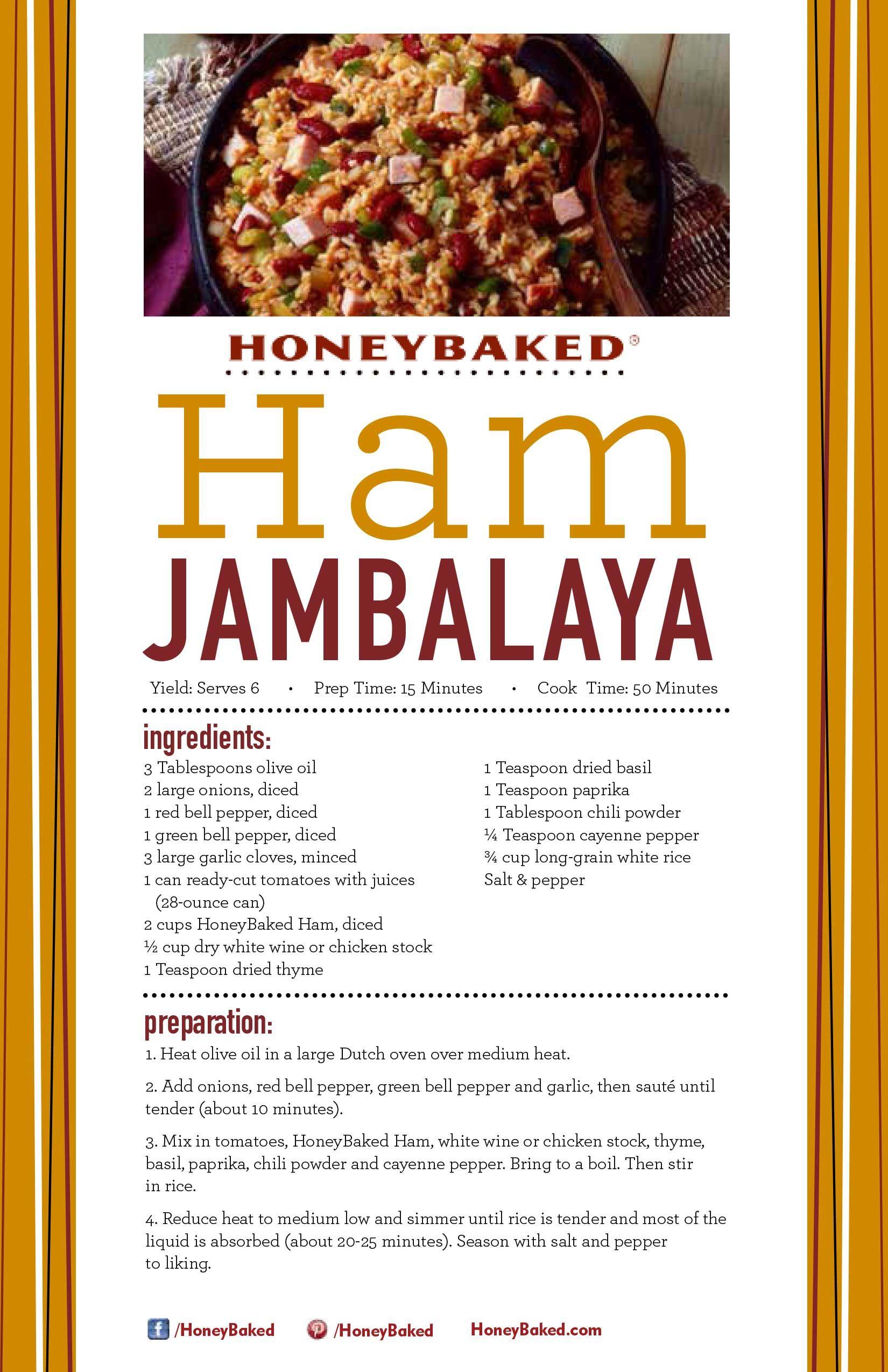 Honeybaked Ham Jambalaya Honeybaked Ham Jambalaya Recipe Www
