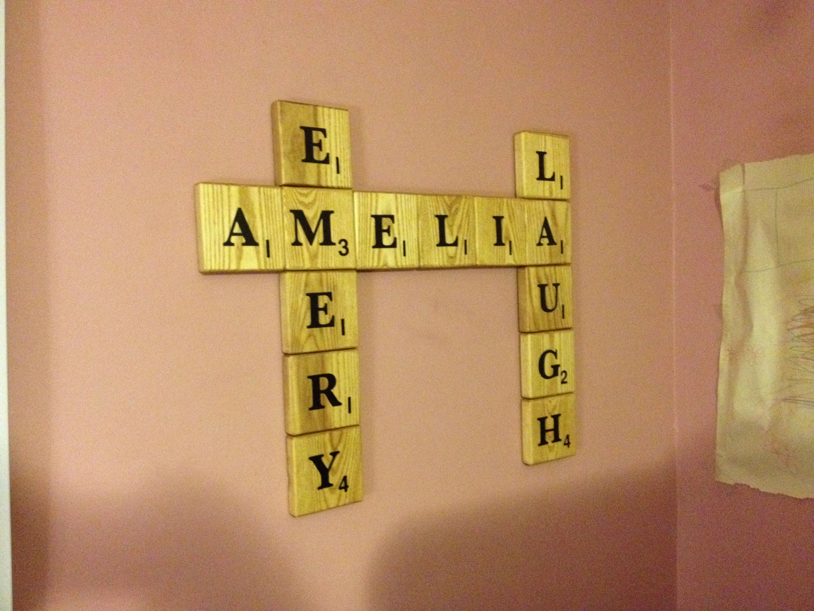 Scrabble pieces I made with Ash | Wall Art | Pinterest | Scrabble