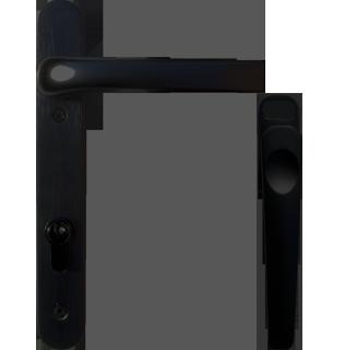 Image result for black door handles backplate   front doors ...