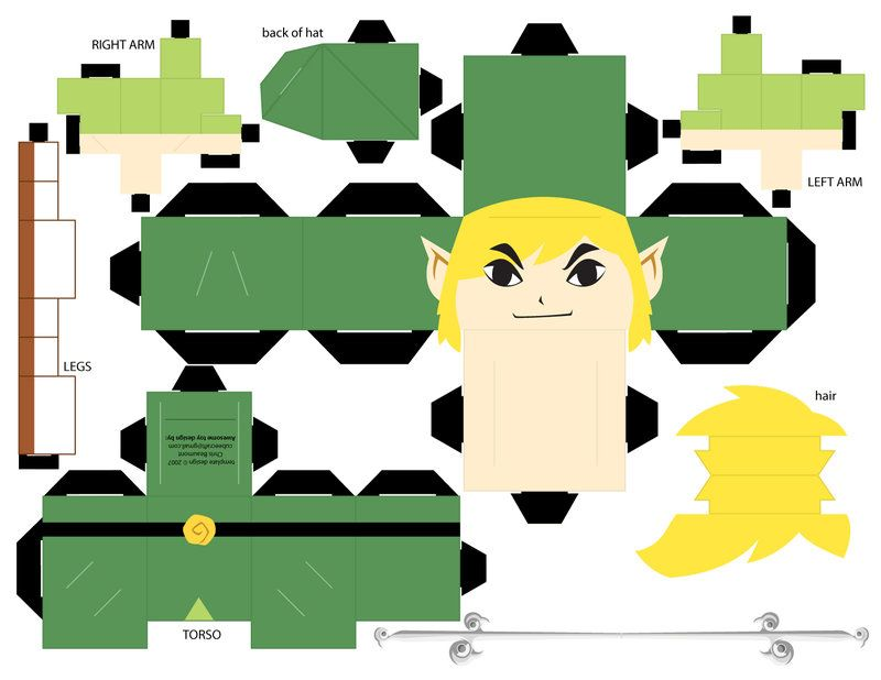 Papercraft Templates Guidance  Papercraft Mario And Mario Bros