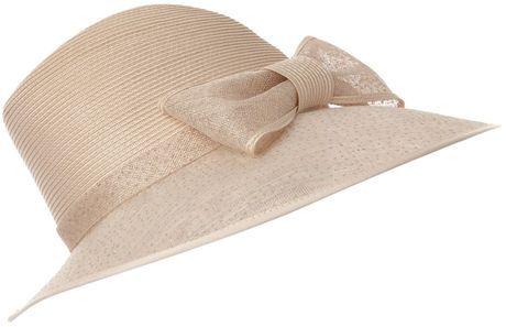 Bow Trim Trilby Hat - Lyst