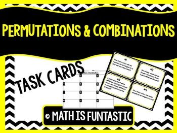 This Activity Contains A Set Of 12 Task Cards About Permutations And