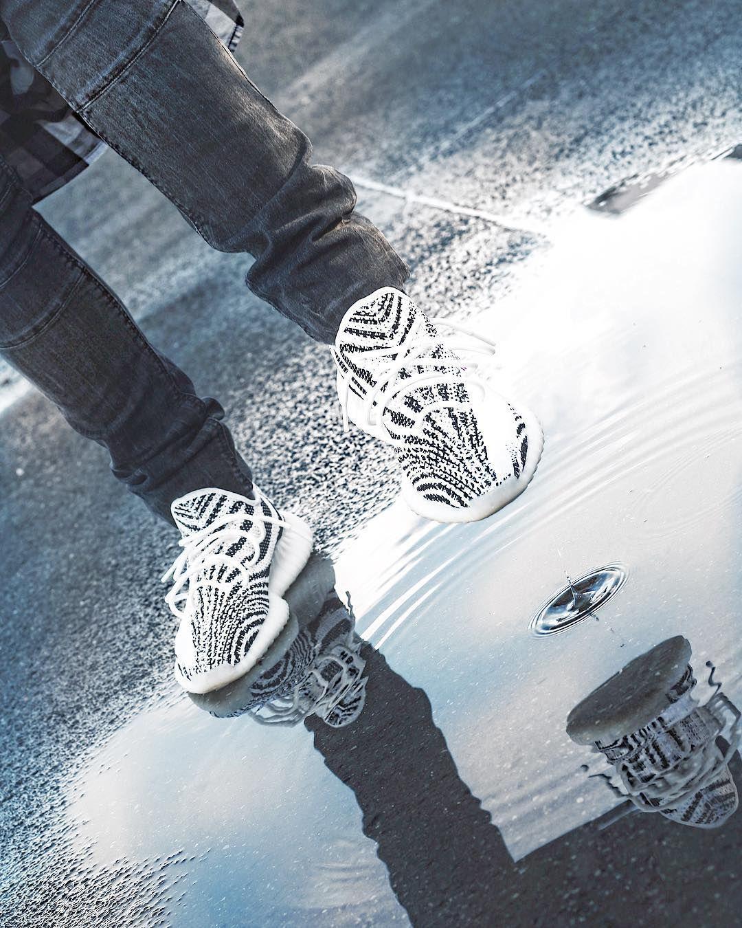 Whiteoptix Adidas Yeezy boost 350 zebra sneaker by Kanye