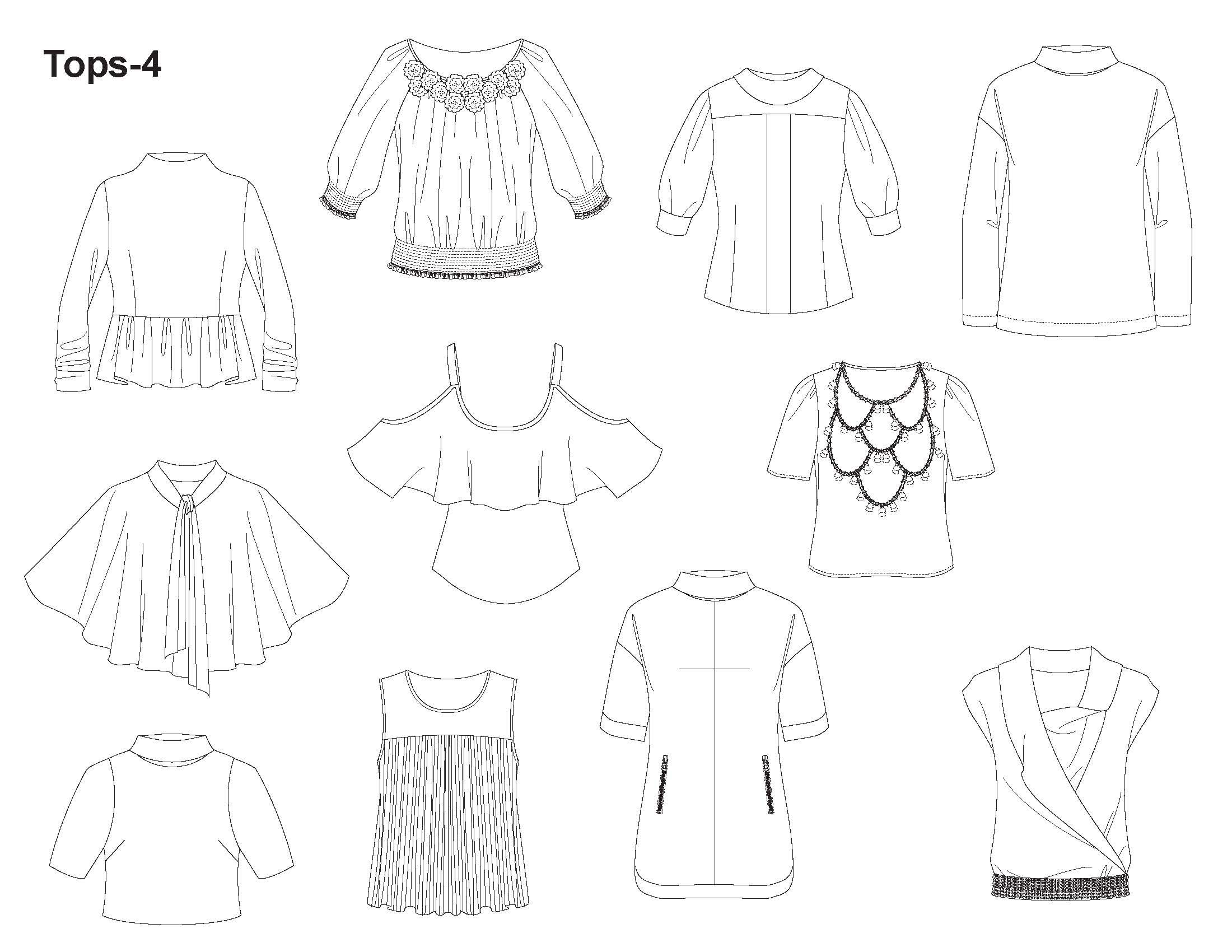 Fashion Template Com Imagens Tecnicas De Desenho Estampas