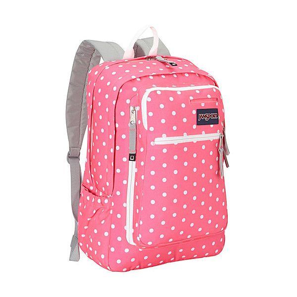 JanSport Insider Laptop Backpack School ($45) ❤ liked on Polyvore featuring bags, backpacks, pink, school & day hiking backpacks, jansport rucksack, laptop rucksack, pink bag, pink laptop backpack and pink laptop bag