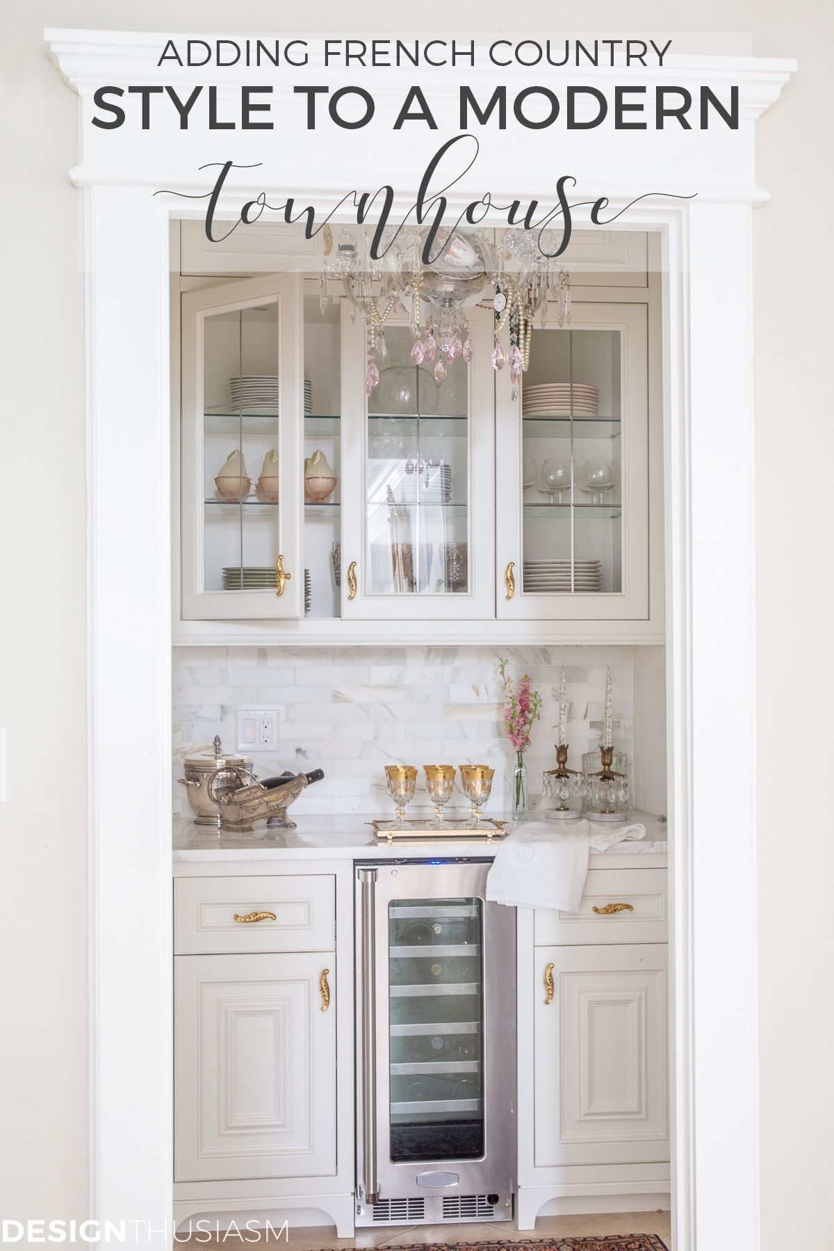 If you want to add character to an ordinary townhouse youll appreciate this story of how we transformed our modern townhouse into a French Country home  Source by designt...