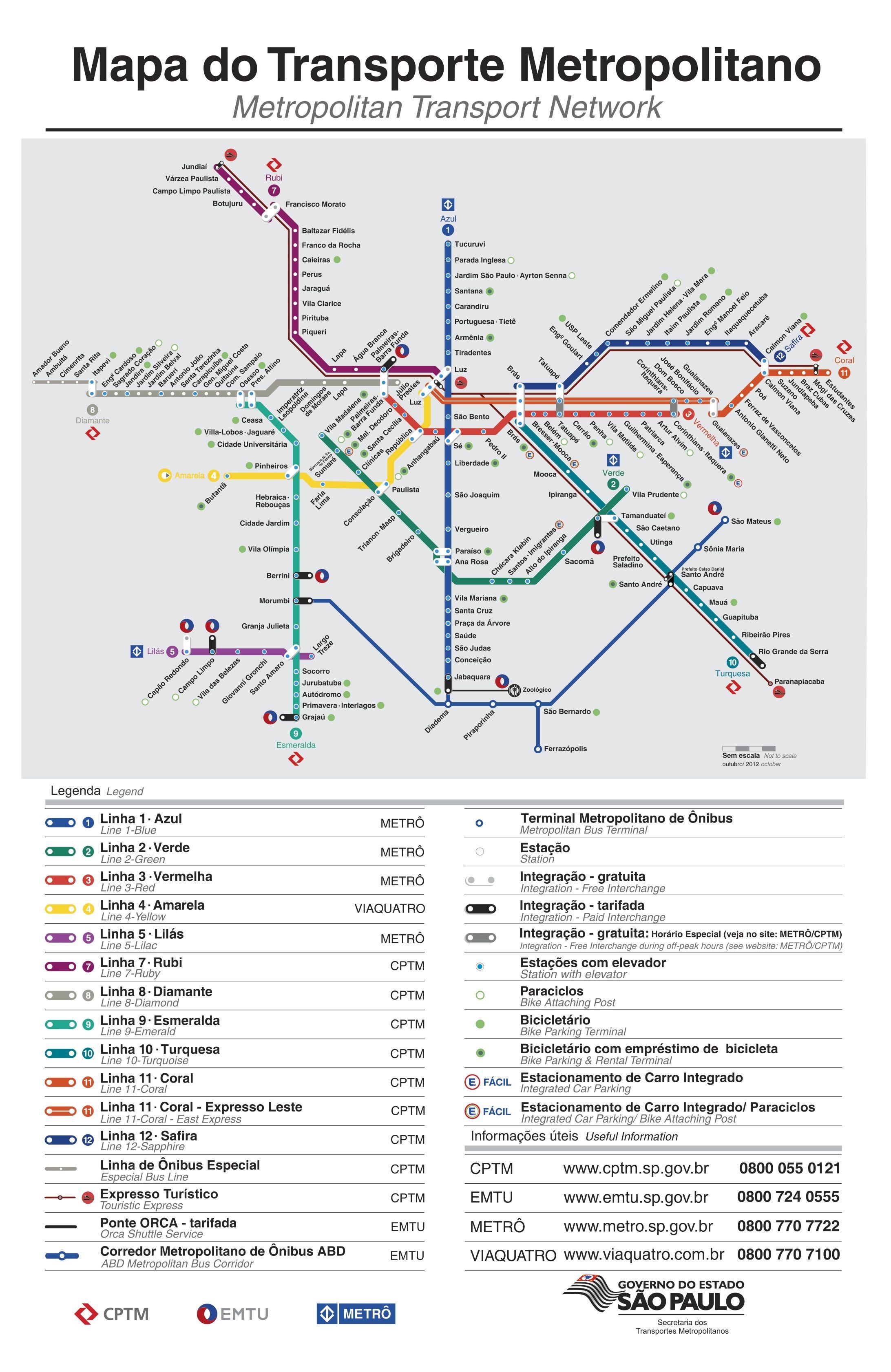 Plano Metro Sao Paulo Sao Paulo subway infografia infographic