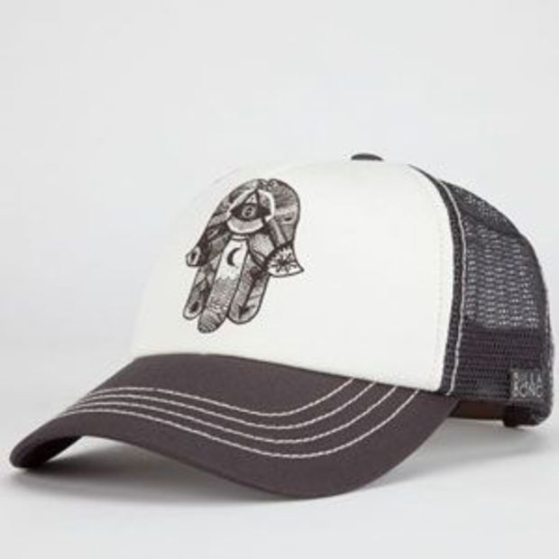 89cb1ad5dc7 Billabong Hamsa Hand Womens Trucker Hat Charcoal One Size For Women  22781411001