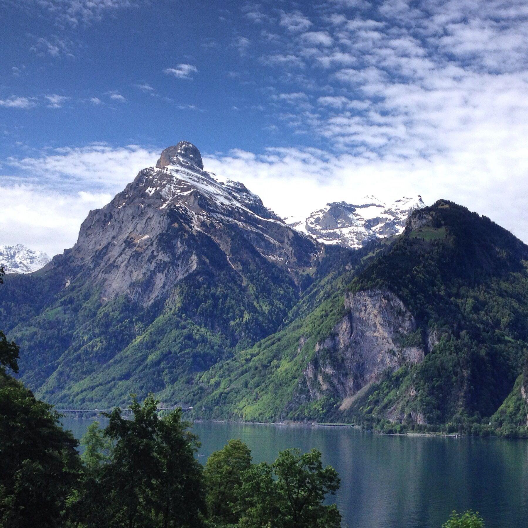 Tellsplatte in Switzerland, Mountain, landscape