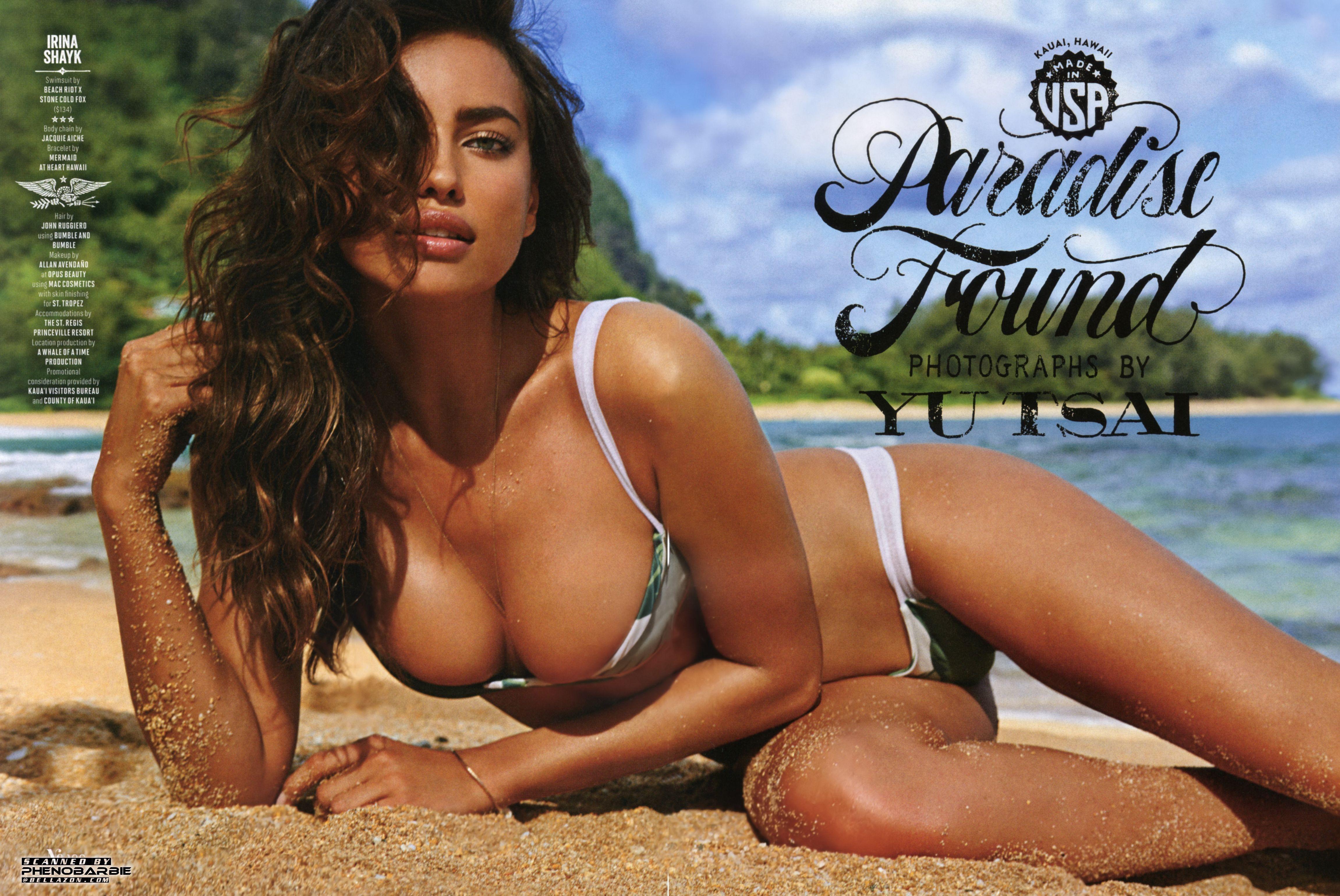 2015 Sexy Irina Shayk  Irina Shayk Sexy Bikini Side Boob -1777