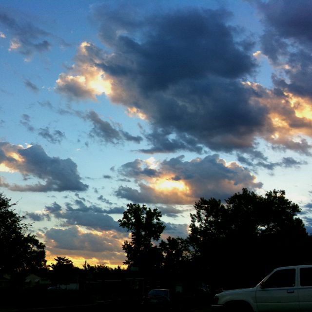 Clouds after a lightning storm , Sacramento Ca... Outside my Home.