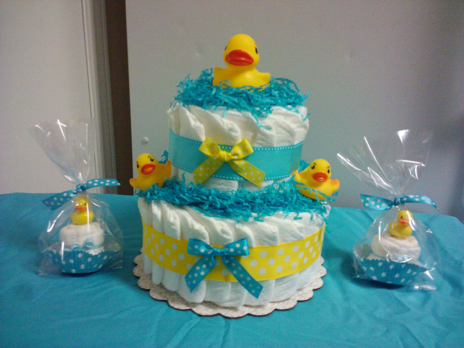 Diaper duck baby shower cakes duck diaper cake and for Baby cake decoration ideas