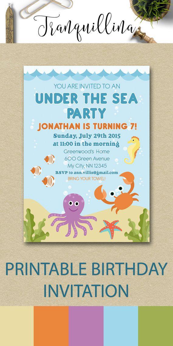 swimming party invites pool invitations templates free birthday ...