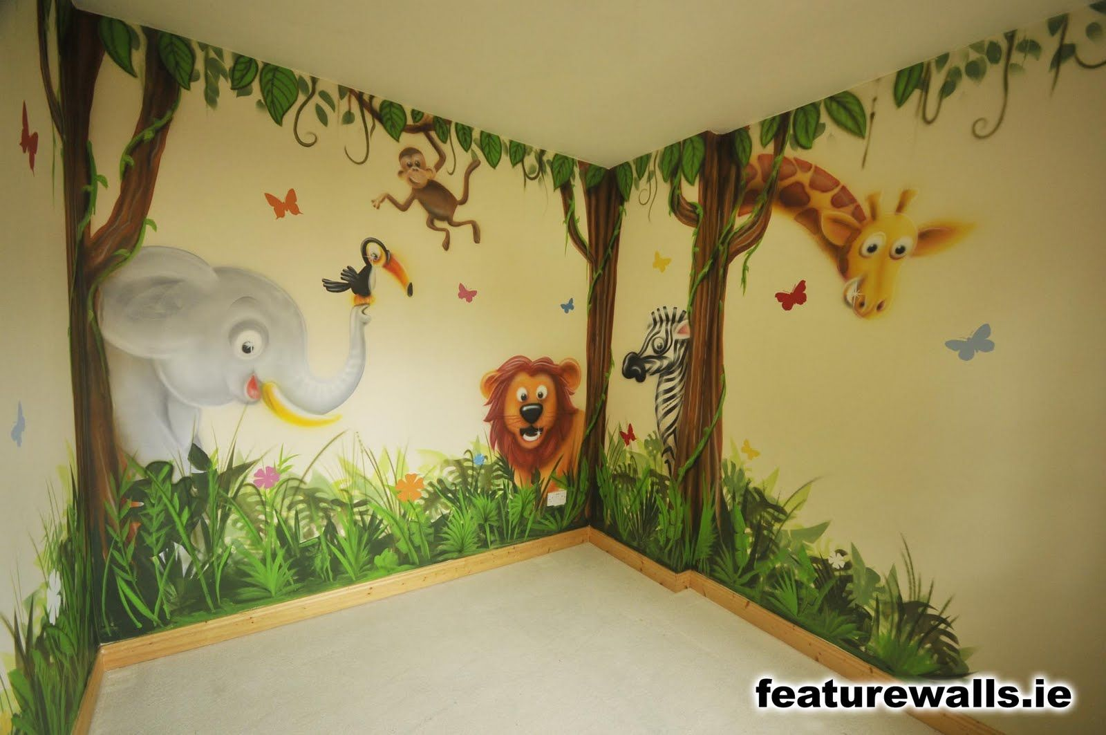 Jungle Murals for Kids Rooms, mural bedroom ideas - GarryHome | Art ...