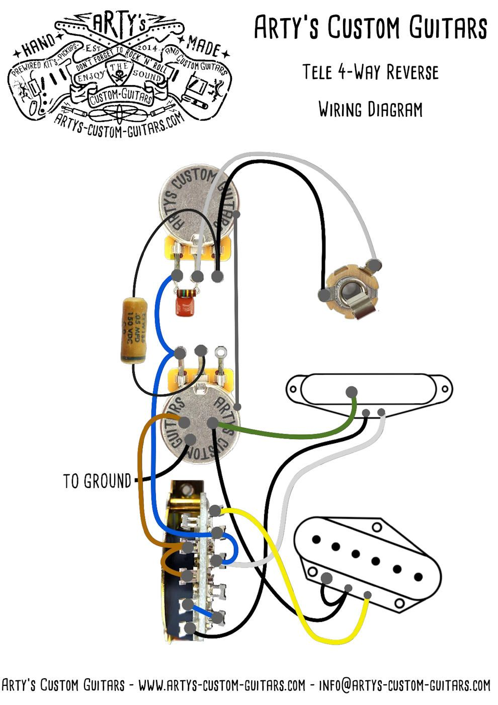telecaster wiring diagram 3 way reverse www artys custom guitars com [ 990 x 1400 Pixel ]