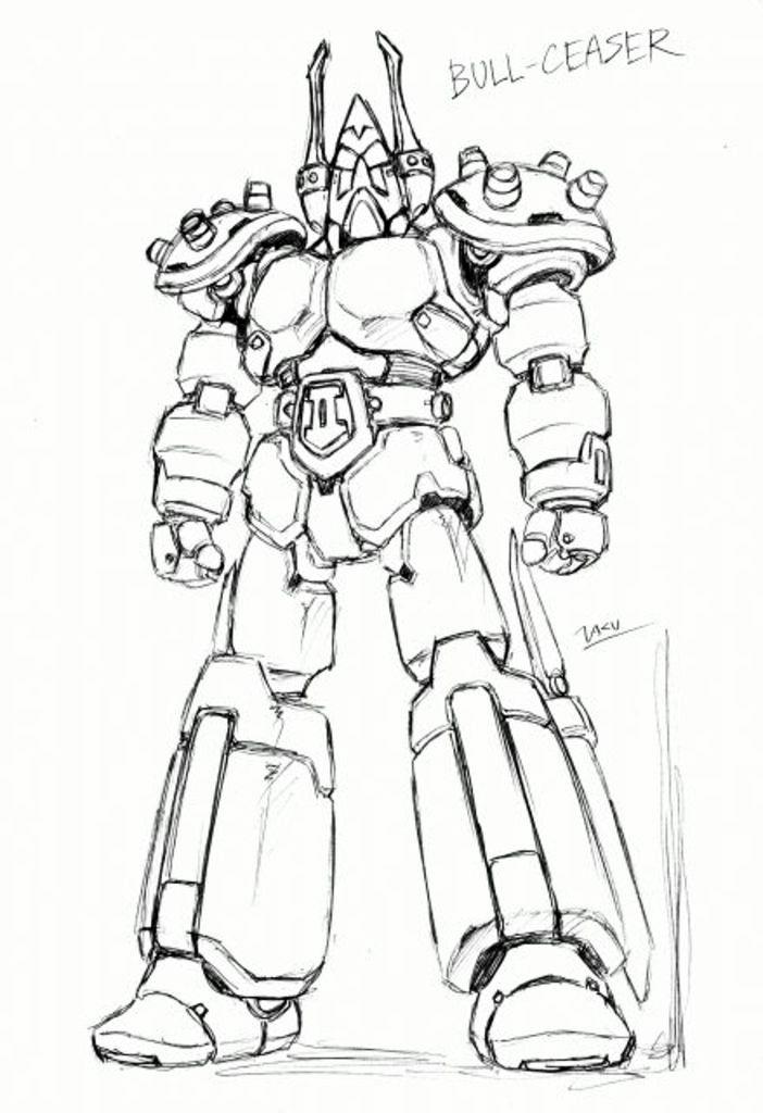 Blocker Iv Gundan Machine Blaster Bull Ceaser 懷舊機械人