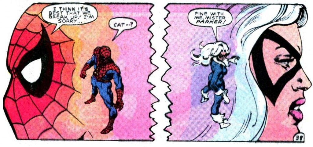 SpiderMan and Black Cat break up in Spectacular Spider