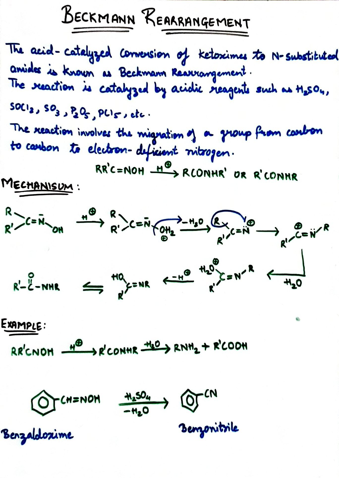 Beckmann Rearrangement Math Math Equations I Know What is addition reaction give example