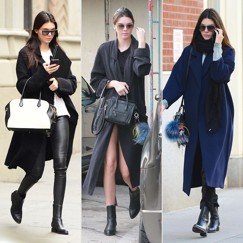 Kendall Jenner Wearing a Long Coat Street Style | POPSUGAR Fashion ...