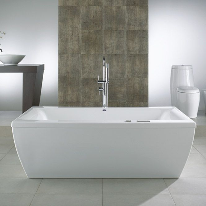 rectangular freestanding soaking tub. Beautiful Freestanding Whirlpool  Air Tub Or Soaking Bath A Rectangular Freestanding Bathtub With