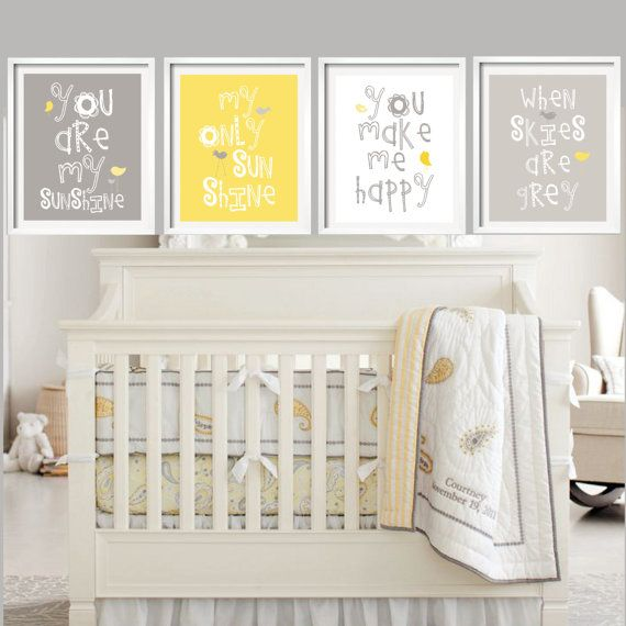 Yellow And Grey Baby Bedding Google Search