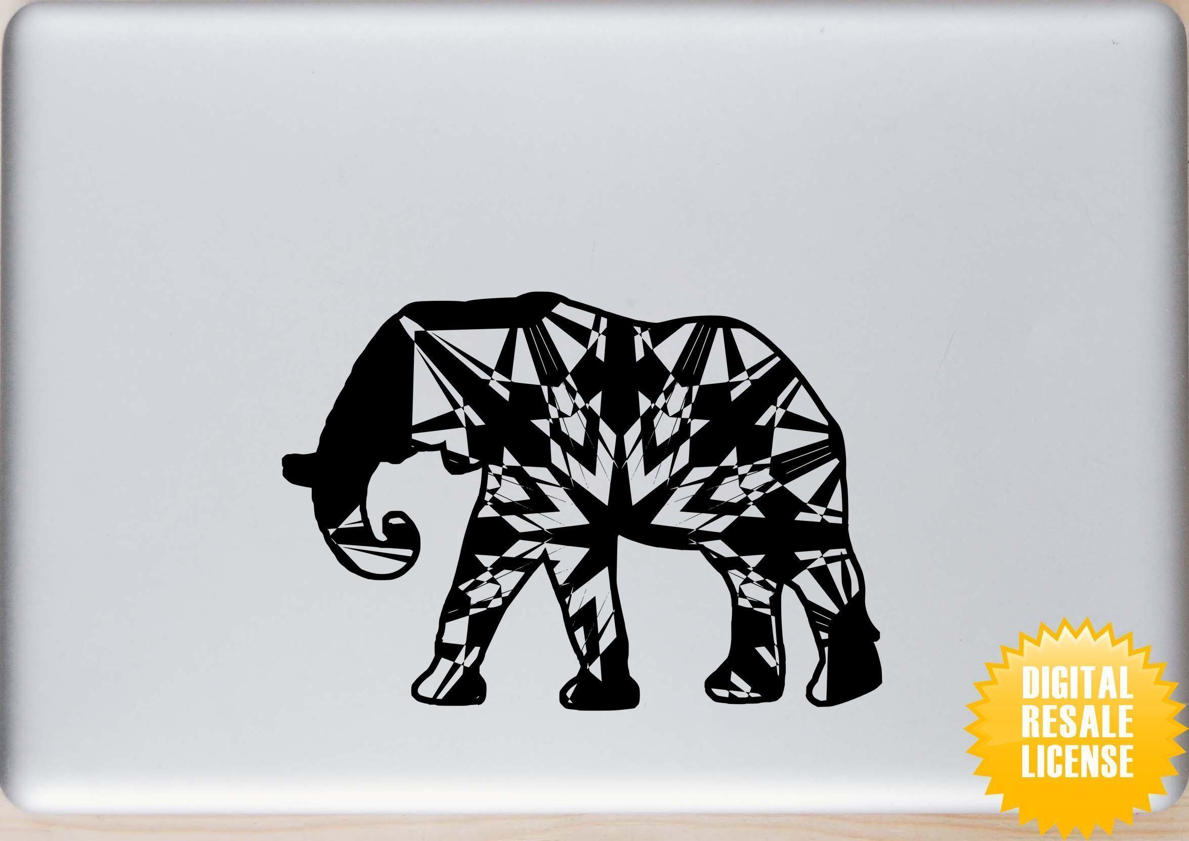 afrikanischer elefant mandala halloween edition svg