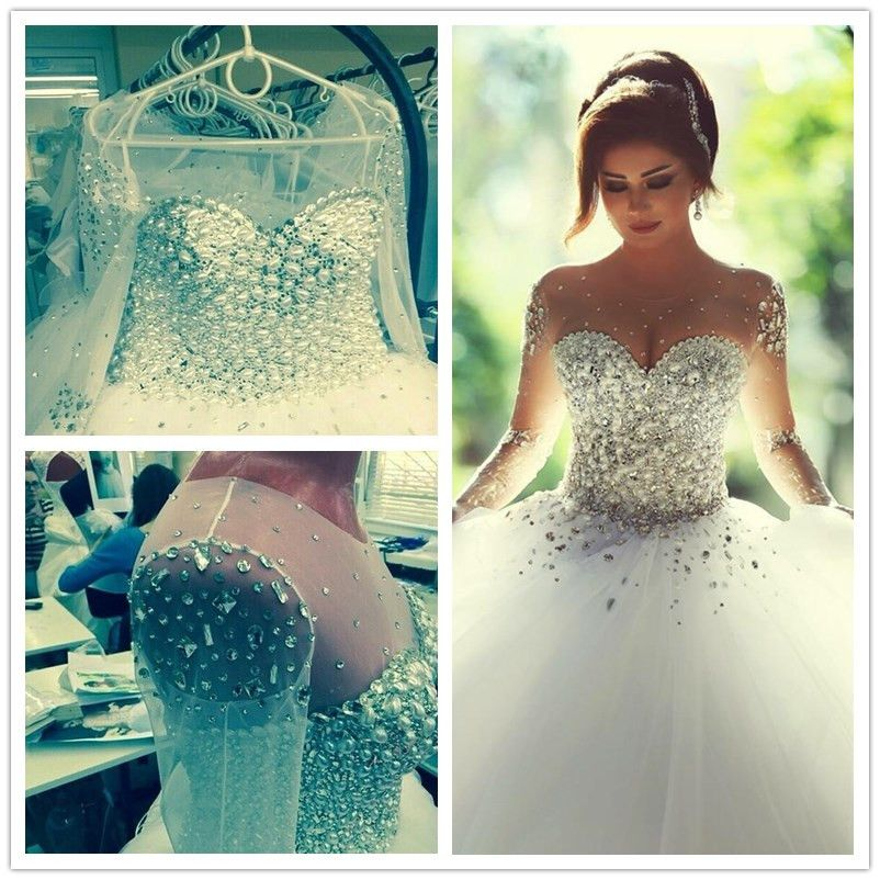 Lace up back strapless wedding dress