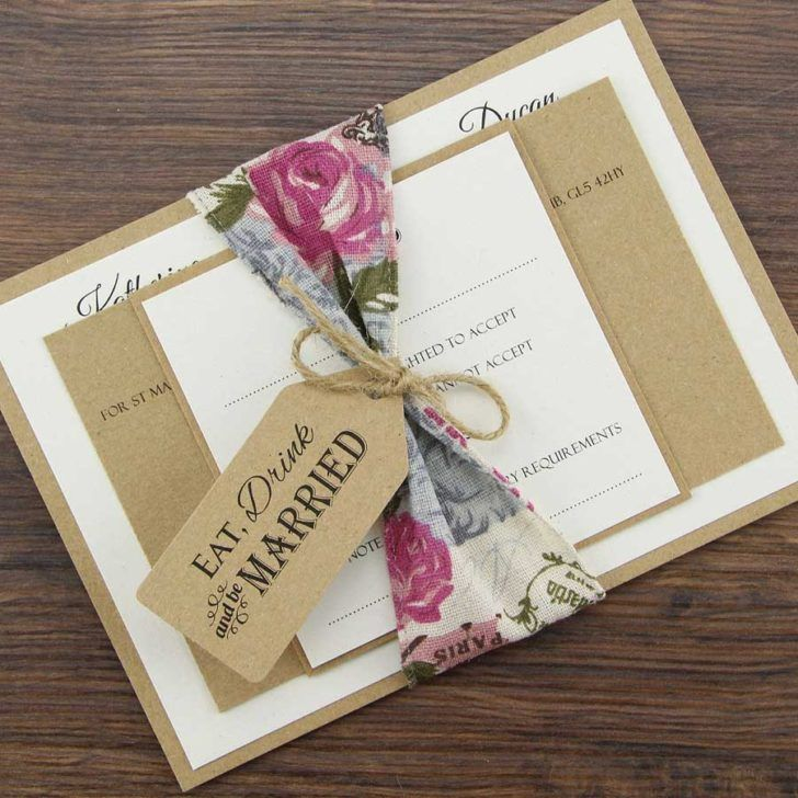 Wedding. Charlotte Parcel Shabby Chic Wedding Invitation Template ...