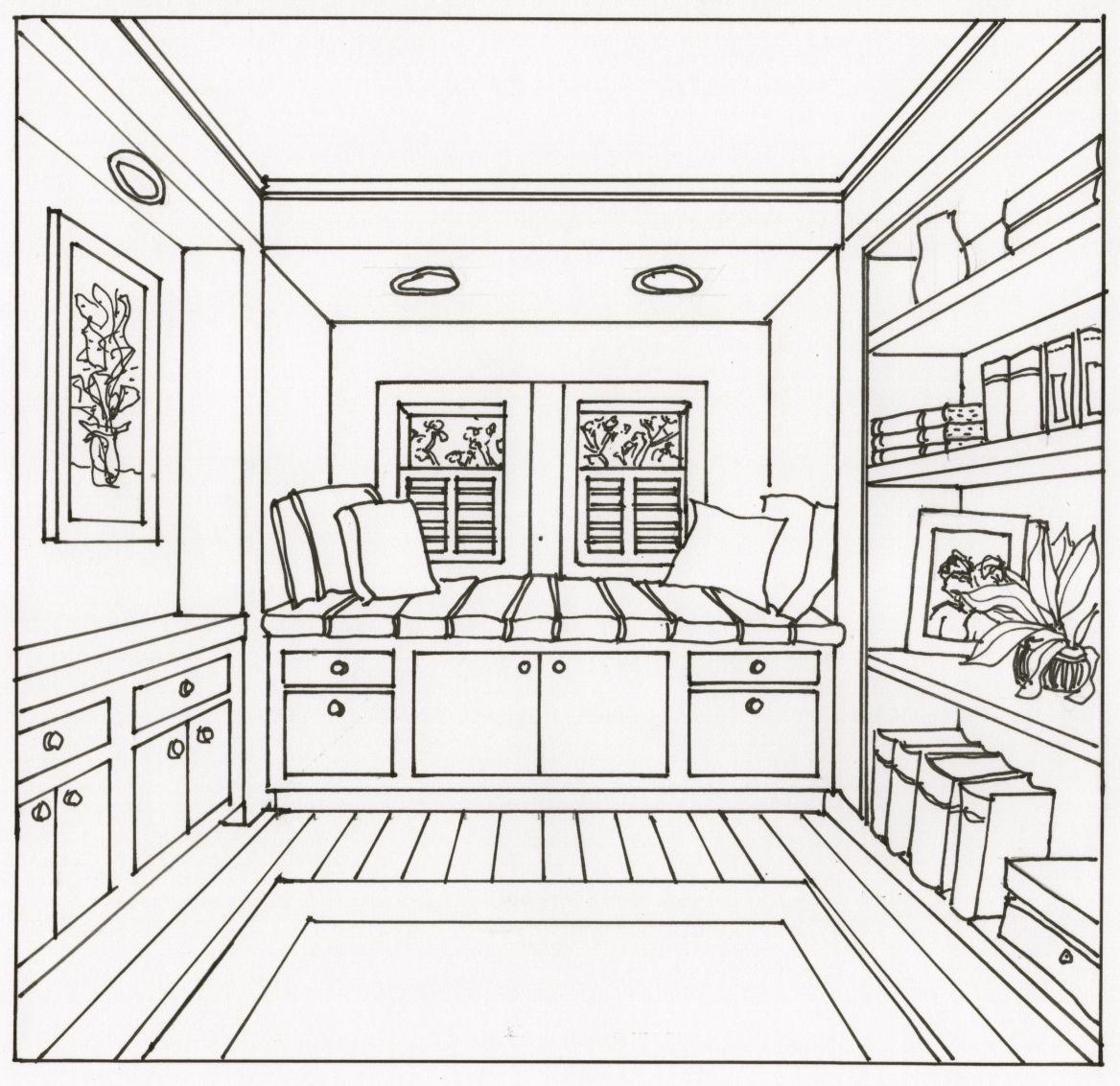 Window Seat Drawing