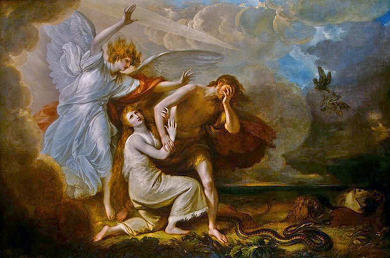 Benjamin West 1791 Expulsion Of Adam And Eve Paradise Scrapbook Art