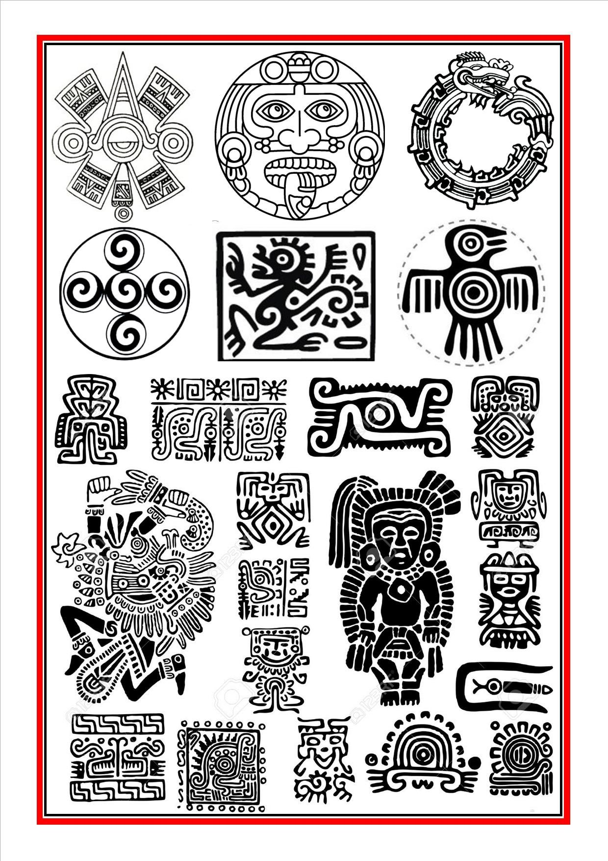 Aztec Symbols 1 Ancient Art In 2018 Pinterest Aztec Symbols