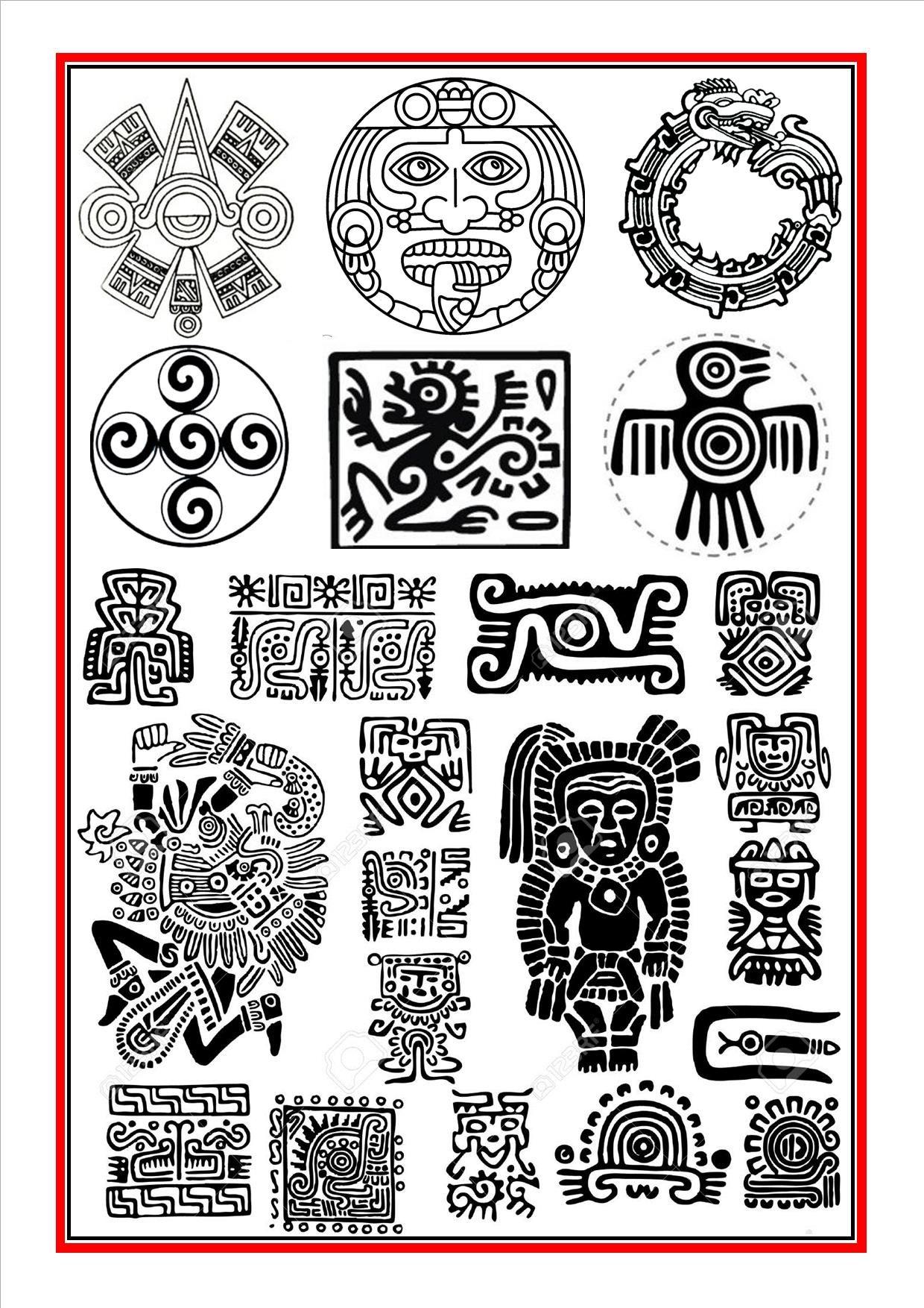 Aztec symbols 1 | Ancient Art | Pinterest | Aztec symbols ...