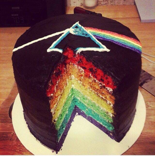 Pink Floyd Dark Side of the Moon Cake