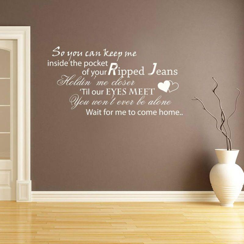 ed sheeran - photograph lyrics - vinyl wall sticker decal transfer